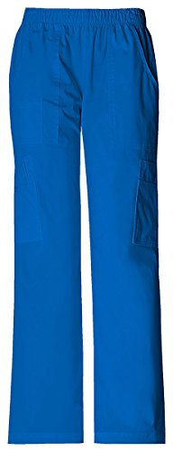 Cherokee Dress Pants (Cherokee Women's Mid Rise Pull-On Pant Cargo Pant_Royal_Large,4005)