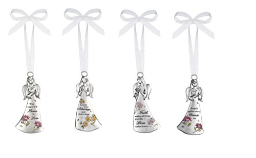 Ganz Angels Among Us 4 Pc. Collection Ornament Set Moms Blessings Faith and ()