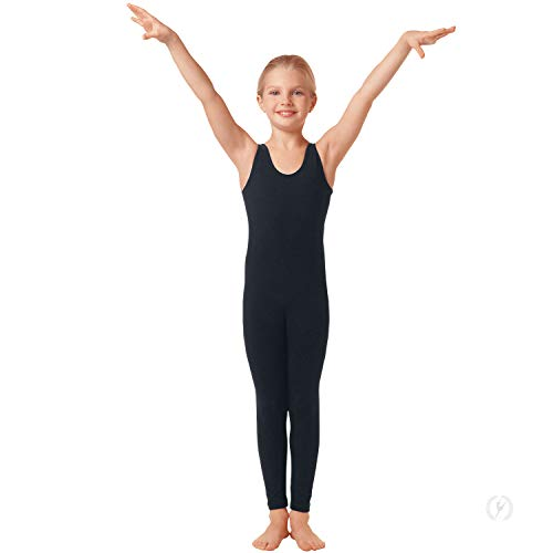 (Eurotard Girls Tank Unitard with Tactel Microfiber (BLACK, X-LARGE) - 4429c)