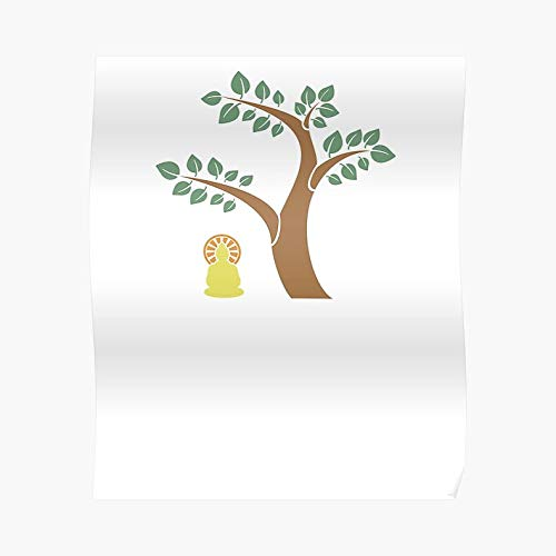 Happy Bodhi Day 2017 Buddhist Holiday Desi - For Office Decor, College Dorm, Teachers, Classroom, Gym Workout And School Halloween, Holiday, Christmas Party ! Great Inspirational Wall Art Poster.]()