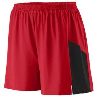 Sprint Short Adult - RED BLACK - 2XL by Augusta Sportswear