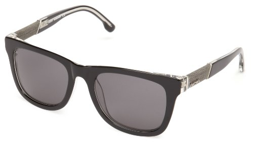 Diesel DL00505203A Wayfarer Sunglasses,Black,52 - Sunglasses Womens Diesel