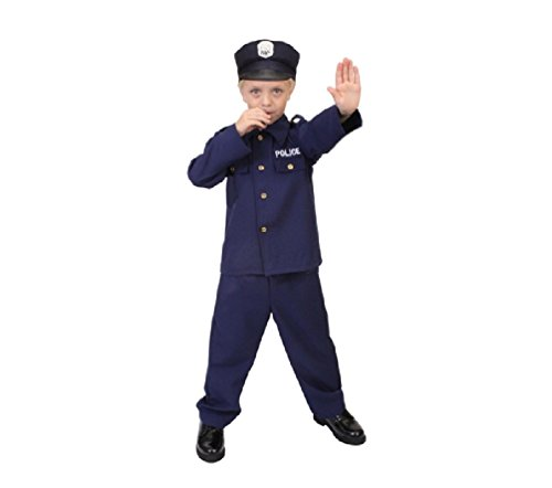 Kids Police Officer Law Enforcement Costume 7 - 9 Years (Girls Blue Police Officer Costume)