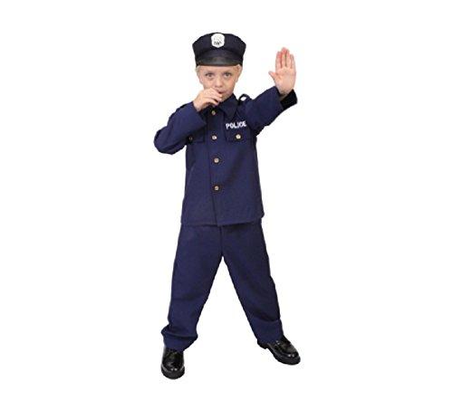 [Kids Police Officer Law Enforcement Costume 7 - 9 Years] (Law Enforcement Child Costume)