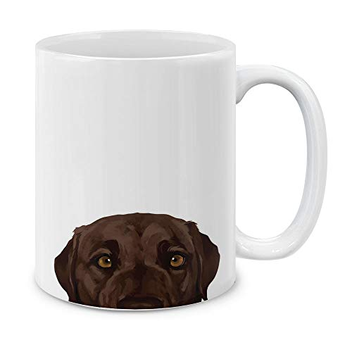 MUGBREW Chocolate Brown Labrador Retriever Dog Ceramic Coffee Gift Mug Tea Cup, 11 OZ