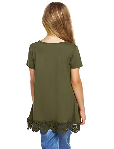 Arshiner Girls Casual Tunic Tops Long Sleeve Loose Soft Blouse T-Shirt for 4-13 Years 4