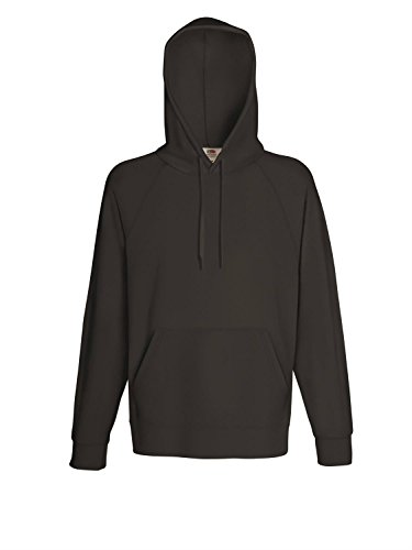 - Fruit of the Loom Mens Lightweight Hooded Sweatshirt/Hoodie (240 GSM) (XL) (Light Graphite)