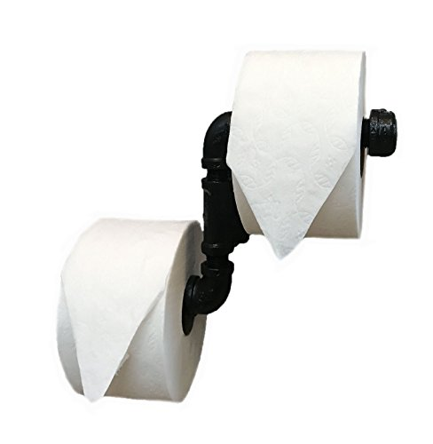Piping Hot Art Works Industrial Toilet Paper Holder Multi Roll Design-NEVER RUN OUT OF TP AGAIN! Perfect for any style bathroom! (DYI Installation; Wall Hardware Included)
