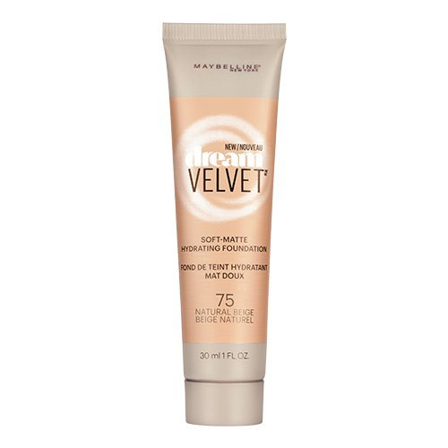 Maybelline New York Dream Velvet Soft-Matte Hydrating Foundation, Natural Beige, 1 fl. oz.