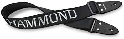 HAMMOND 몬 드 스트랩 핀 건반 하 모니카 용 숄더 스트랩 블랙 (로고 刺 繡 들어가고) KSH-1 / HAMMOND Hammond Shoulder Strap Black for Keyboard Harmonica with Strap Pin (Logo With Sashimi) KSH-1