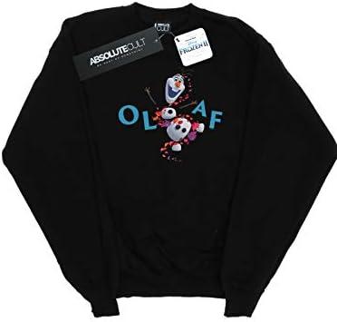 Disney Herren Frozen 2 Olaf Leaf Jump Sweatshirt Schwarz X-Large