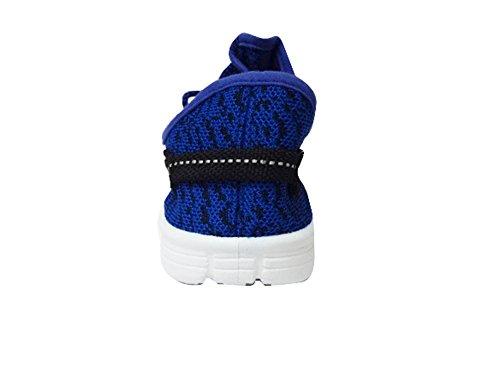Womens Fashion Pulloversöm Sport Kör Sneakers 2 Färger (jump03) Blå