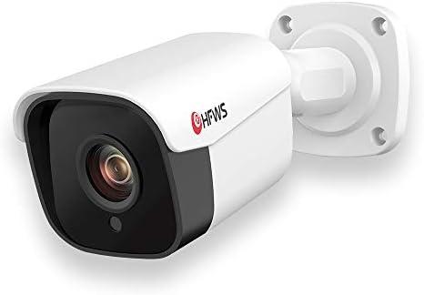 Audio 5 Megapixel POE IP Security Camera D-WDR Bullet Outdoor Indoor- IP67 Weatherproof,IR Night Vision Motion Detection 5MP 25601920