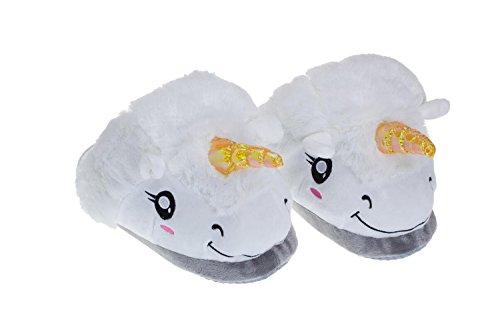 de caseros Blanco de Casual Color tamaño Forro Zapatos Zapatillas Comfort Invierno Unisex Size y Chanclas Zapatos One de DANDANJIE White algodón Blanco para Piel Pink HUXcxS