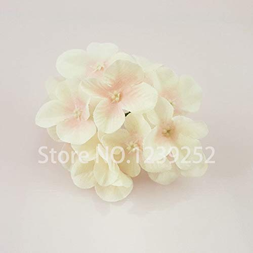 SeedWorld Artificial & Dried Flowers - 50 Pcs/Lot Artificial Hydrangea Silk Flowers Heads Decoration for Wedding Party Banquet Home Decorative Flowers 1 PCs