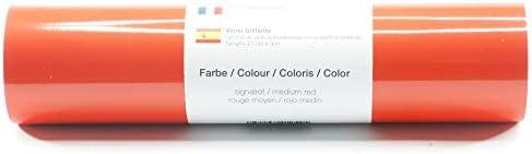 Lámina de plotter autoadhesiva lámina de vinilo 21 cm x 3 m brillo 39 colores a elegir, Glänzend L-Serie:Rojo Medio: Amazon.es: Hogar