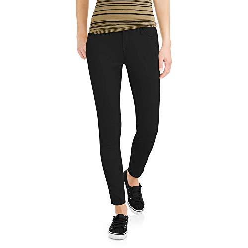 Faded Glory Women's Super Stretch Ultimate Skinny Core Denim Jeans (Black, 4 Petite, 26W x 26L)