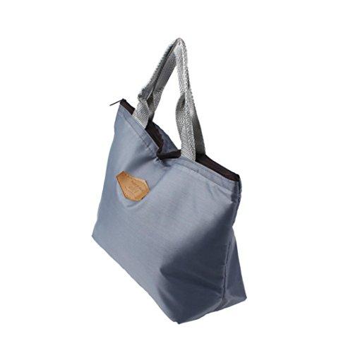 Rawdah - Bolso mochila  para mujer azul azul gris