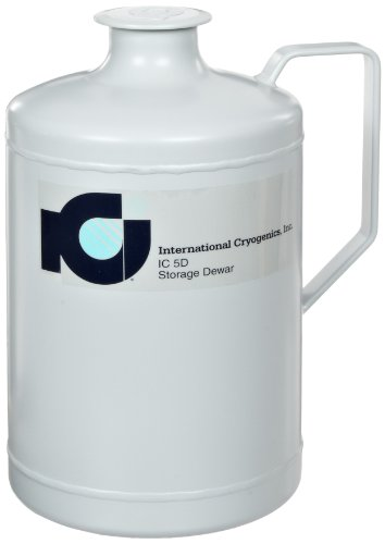 International Cryogenics IC-5D Liquid Nitrogen Storage Dewar, 5 Liter Capacity, Includes Neck Insert