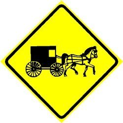 (AMISH CROSSING horse buggy religious NEW sign)