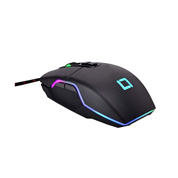 Live Tech Vulcan Programable Sensor RGB DPI 7D Gaming Mouse Gold Plated USB Braided Cable
