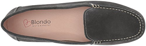 Blondo Women's Dale Waterproof Driving Style Loafer Dark Grey Suede 2015 new cheap price low shipping cheap online where can you find oF6irIArg
