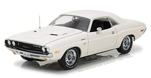 (Greenlight HWY-18008 Highway 61-1970 Dodge Challenger R/T White 1/18 Scale Diecast Model)