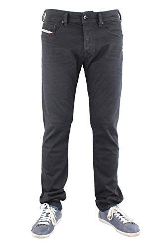 Diesel Men's Jeans Tepphar Slim Fit Cotton Black Mid-Rise 00CKRI- OR84A - 02 (W 38 - L 32) ()