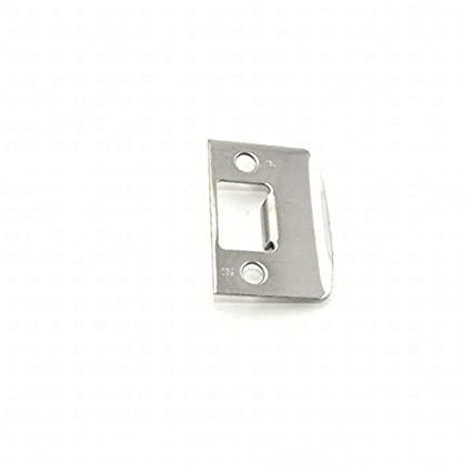 """KWIKSET FULL LIP LATCH STRIKE PLATE 2 1//4/"""" REPLACEMENT PART chrome stainless"""