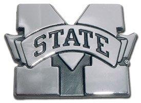 Mississippi State Bulldogs Premier Chrome Metal Auto Emblem by Elektroplate
