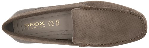 Snake M Anthracite Geox Moc Taupe Boat Men's 15 Shoe p8nx1Exwq5