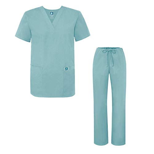 Adar Universal Medical Scrubs Set Medical Uniforms - Unisex Fit - 701 - SUB - -