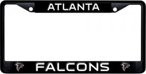 Rico Atlanta Falcons Black Metal License Plate Frame