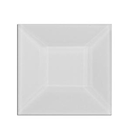 (Stained Glass 1.5 X 1.5 Clear Square Bevels Pack of 10)