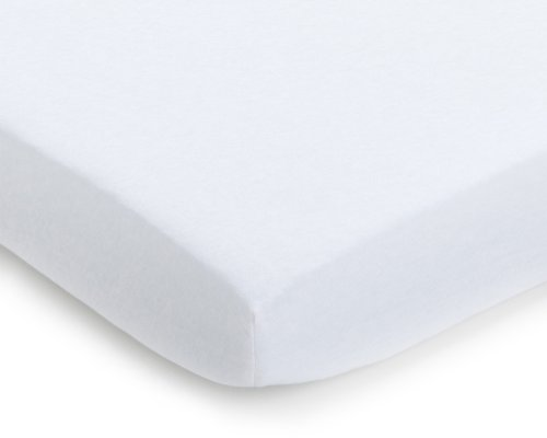 Julius Zöllner 8320113100 - Spannbetttuch Jersery für Kinderbett, Größe: 60 x 120 cm/70 x 140 cm, Farbe: weiß