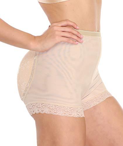 Padded Butt Enhancer - LANFEI Women's Butt Lifter Panties Enhancer Padded Underwear Briefs Fake Buttock Control Seamless Lace Boyshort