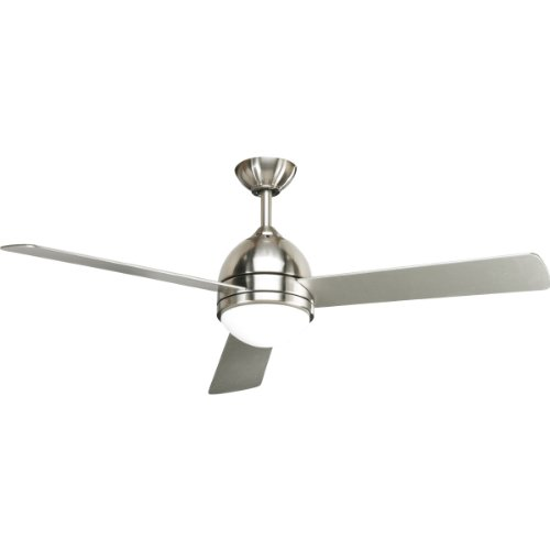 Progress Lighting P2514-09 52-Inch Trevina Ceiling Fan, Brushed Nickel Progress Lighting 52 Inch Ceiling Fan
