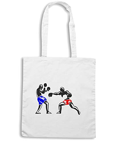 Shirt Borsa 5 Speed Bianca Shopper TBOXE0007 BOXING SdH5qO