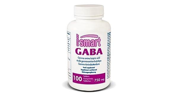 Supersmart MrSmart - Estrés y Sueño - GABA - Neurotransmisor inhibidor, efectivo para ayudar a combatir el estrés. 750 mg, 100 comprimidos.