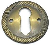 Oval Bronze Keyhole Door Key Plate Furniture Hardware Reproduction Escutcheon