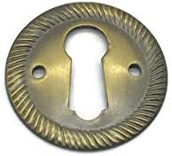 Brass Keyhole Cover Door Key Plate Furniture Hardware Reproduction Escutcheon