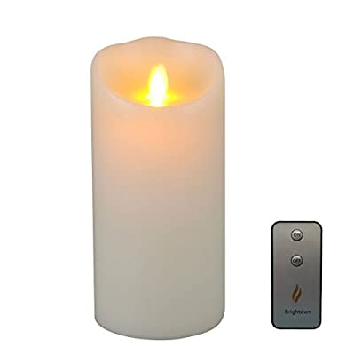 Flameless Candle with Remote & Timer,Pillar Candle with Moving Wick ¡­