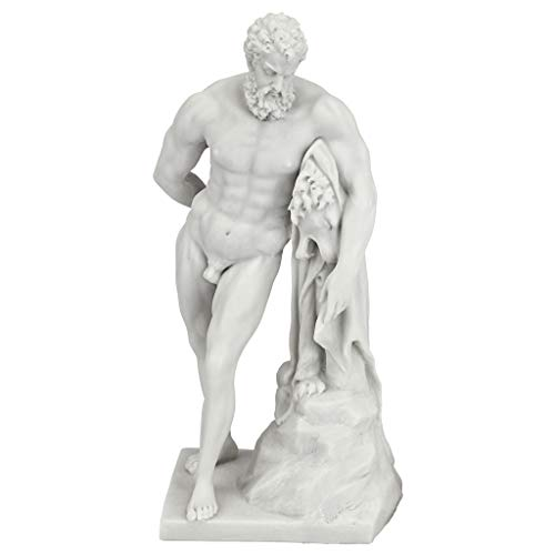 - Design Toscano Farnese Hercules Roman God Statue, 10 Inch, Bonded Marble Polyresin, White