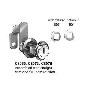 "Disc Tumbler Cam Lock 1-3/4"", Nickel, Key C8060-14A-C346A"