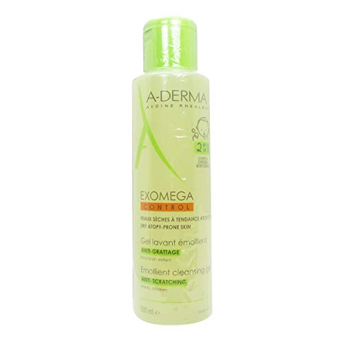 (A-derma Exomega Emollient Cleansing Gel Body And Hair 500ml )