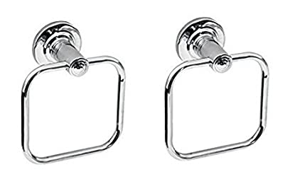 Jagger Stainless Steel Towel Ring Rod Napkin & Towel Ring Chrome Finished (Pack of 2)