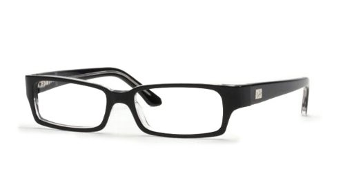 Ray-Ban Mens Rx5092 Rectangular EyeglassesTop Black & Transparent52 mm