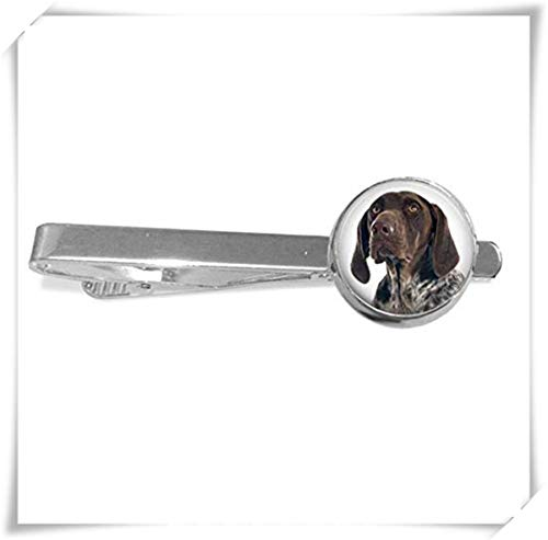 (memory Your German Shorthaired Pointer Dog's Photo on a Tie Clips,Dome Glass Ornaments, Unique Tie Clips)