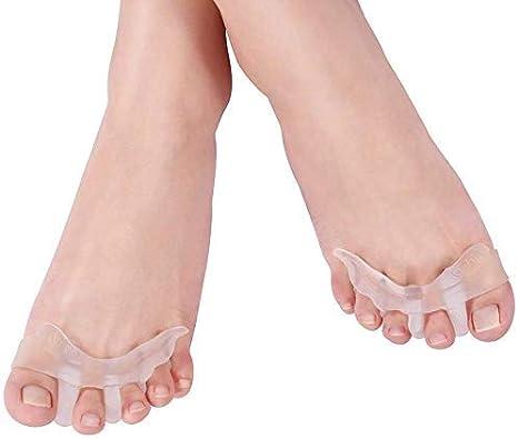 Doact Separadores de Dedos del Pie de Gel Separador de Dedos del Pie (1 Pares) para Hallux Valgus Hammer Tratamiento de los Dedos del Pie, Alivio de la Dolor en el Pie
