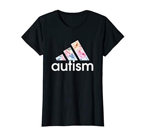 Adida Autism Awareness Flowers Funny Shirt For Womens Girls (Flower Adidas Kids)